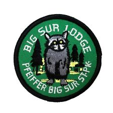"Souvenir Patch ""Big Sur Lodge"" Pfeiffer State Park California Iron-On Applique"