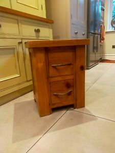 2 drawer rustic wooden cabinet