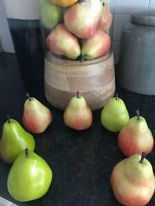 7 pieces Artificial Lifelike Simulation Pear Fake Fruit Home Decoration