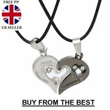 2012787894 His and Hers Stainless Steel I Love You Heart Men Women Couple Pendant  Necklace