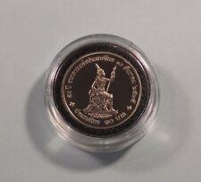 King Bhumibol Adulyadej and Queen 1992 Thailand 10 Baht Proof Coin Thai Siam r