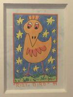 "James RIZZI: Original Unikat ""RIZZI BIRD"", 1999, handsigniert, Zertifikat"