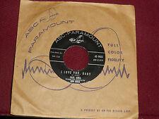 """PAUL ANKA """"I Love You, Baby"""" ABC-Paramount 45-9855"""