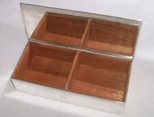 "TIFFANY & CO. STERLING SILVER DESK BOX WITH CEDAR LINING 7.75""L X3.5""W X1.75"" T"