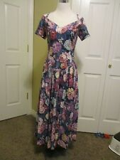 Womens Dress Size 10 Robbie Bee multi colors rockabilly dress vtg 80's