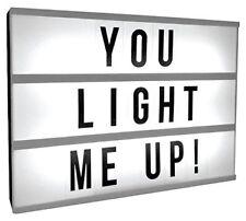 Mini LED Luz mensaje cinematográfica Caja Tienda De Pared Signo De Boda LP40858