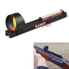 Red Dot Holographic Scope Sight with Red Fiber Fit Shotgun Rib Rail for Hunting