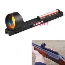 Ultralight Red Dot Holographic Scope Sight&Red Fiber for Shotgun Rib Rail Rifle