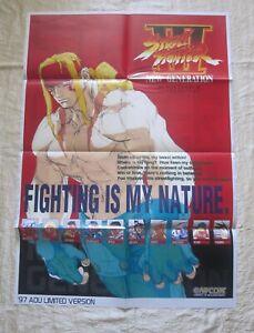 1997 CAPCOM STREET FIGHTER III NEW GENERATION POSTER