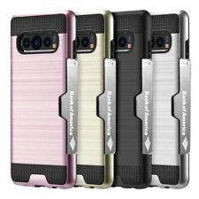 For Samsung Galaxy Note 10 /Plus Wallet Case Card Slot Hybrid Armor Rugged Cover