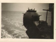 original photo of a mine being launched from the back of the hampton  1941