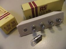 Bombilla Halógena De E14 6.5v 1W X 5 caja hecha por RS L.E.S. Bombillas 586087... 36