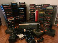 Atari 2600 Rainbow Jr W/3 Controllers, 72 Games, Cords, Manuals, & Game Holders