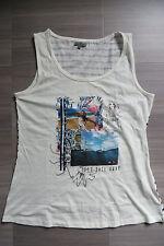 LIZ DEVY T-Shirt S, Singlet Top 36 38,Tanktop LET´S SAIL AWAY,weiß,Streifen grau
