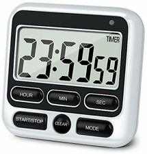 Digital Kitchen Timer with Mute/Loud Alarm Switch ON/Off Switch, 12 Hour 1