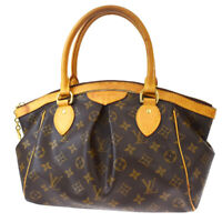 Authentic Louis Vuitton Tivoli PM Hand Bag Monogram Leather Brown M40143 73MF999