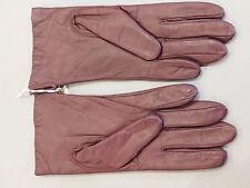 NEW Fownes Ladies size 7.5 Genuine Leather Cordovan Burgundy Wrist Gloves NWT