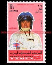 STEWART James Pilote F1 YEMEN Timbre Neuf Poste Automobile 1969 Moto Poste Stamp