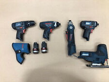 5 X Bosch 10.8V Tools Drill/Driver/Jigsaw/2 Batteries/Holster Good Cond, FP!!!