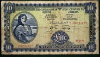1975 Irish Central Bank of Ireland Eire £10 Pound banknote, Lady Lavery [12614]
