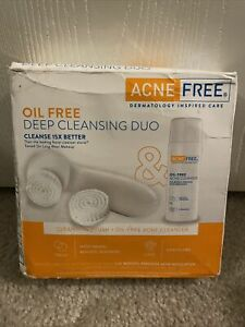 AcneFree Advanced Deep Cleansing Duo Power Facial Brush + Cleanser BOX DAMAGED