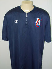 Vtg Champion Los Angeles Clippers 1/4 Zip Pullover NBA Warmup Jersey Men 3XL