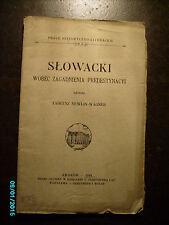 1918 POLAND  KRAKOW , SLOWACKI WOBEC ZAGADNIENIA PREDESTYNACYI