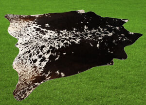 "New Cowhide Rugs Area Cow Skin Leather 22.56 sq.feet (58""x56"") Cow hide U-2540"