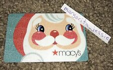 MACY'S GIFT CARD CUTE GLITTERING SANTA FACE NO VALUE COLLECTIBLE NEW
