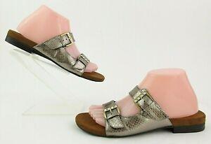 Vionic Czarina Women's Slip-on Sandals Bronze Snake Size 9 MSRP $109.99 MINT!