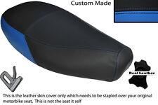 Luz Azul Y Negro Custom encaja Piaggio Vespa ET2 Et4 125 Doble Cuero Funda De Asiento