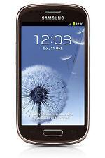 Samsung s3 MINI Brown gt-8200 O. Brand./SIM-lock/contratto NUOVO & OVP SPEDIZIONE EXPRESS
