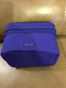 "VERA BRADLEY ""GAGE BLUE"" ICONIC JEWELRY TRAIN CASE (NWT)"
