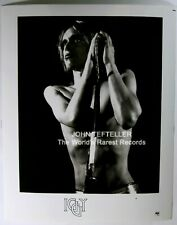 Original 1970's 8x10 Publicity Photo Iggy Pop Rock