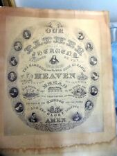 """Antique Engraving Of The Lord's Prayer-1880 By Dawlin F Brown- unframed 24 1/2"""""""