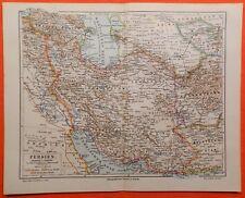 Persien Irak Adschemi Iran Teheran isfahan Kum  historische Landkarte 1897