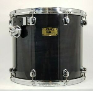 """Mapex Pro M 16"""" Tom Black Lacquer Finish, Power Hoops, Brand New Drum Head"""