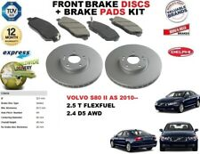 FOR VOLVO S80 II AS 2.5T 2.4 D5 AWD FRONT BRAKE DISCS SET + DISC PADS KIT