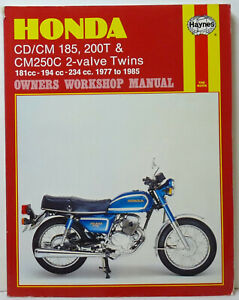Honda CD/CM 185, 200T 2-Valve, Haynes Workshop Manual. 1977 to 1985. Unused.