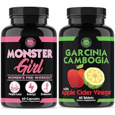 Monster Girl and Garcinia Cambogia-Apple Cider Vinegar Combo, 2-PK