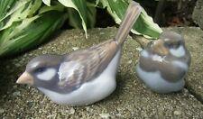 2 Royal Copenhagen Sparrow Birds #1081 #1519 Porcelain Figurines Denmark