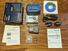 Panasonic Lumix DS5 (Silver) 12X Zoom 12.1MP Digital Camera Complete Bundle Good