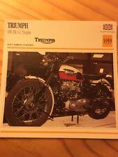 Triumph 650 TR6 C Trophy 1959 Carte moto Collection Atlas UK