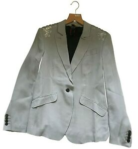 Paul Smith Black Label Woven Silver Sequinned Jacket 42/52 RRP £550