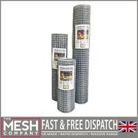 """Galvanised Welded Wire Mesh 1"""" x 1"""" 19G Aviary Chicken Rabbit Fence"""