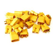 20x Paar 40 Stück XT30 STECKER BUCHSE Goldstecker Lipo Akku RC 30A Gelb XT 30