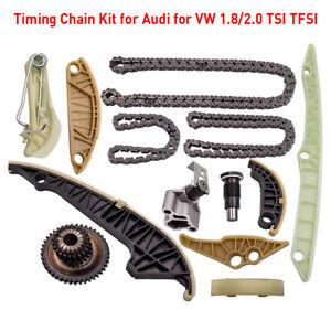 TIMING CHAIN KIT for AUDI VW 2.0 1.8 TFSI TSI EOS GTI A3 A4 A5 A6 Q5 CDAA, CCZB