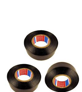 3 x TESA Insulating Tape 19mm x 20m PVC Multipurpose