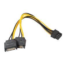 20cm Strom Kabel Adapter 2x 15pin SATA auf 8 (6+2) PCI Express PCI-E Grafikkarte