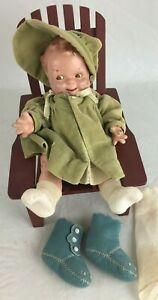 """Vintage Cameo Rose O'Neill 12"""" American Composition Sleep Eyed Scootles Doll"""